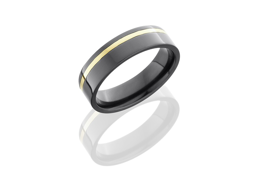 Lashbrook Zirconium Wedding Band