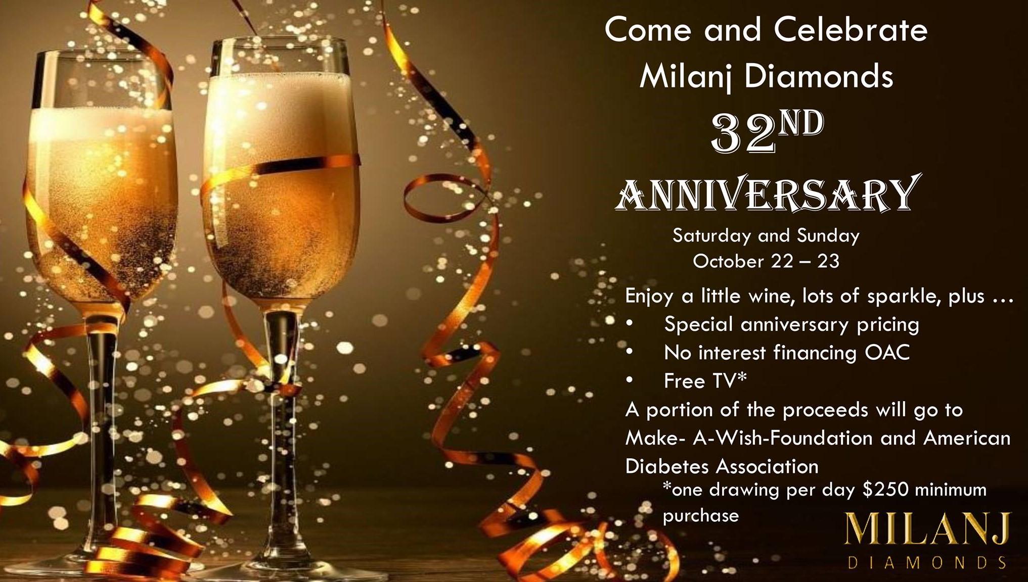 Milanj Diamonds 32nd Anniversary