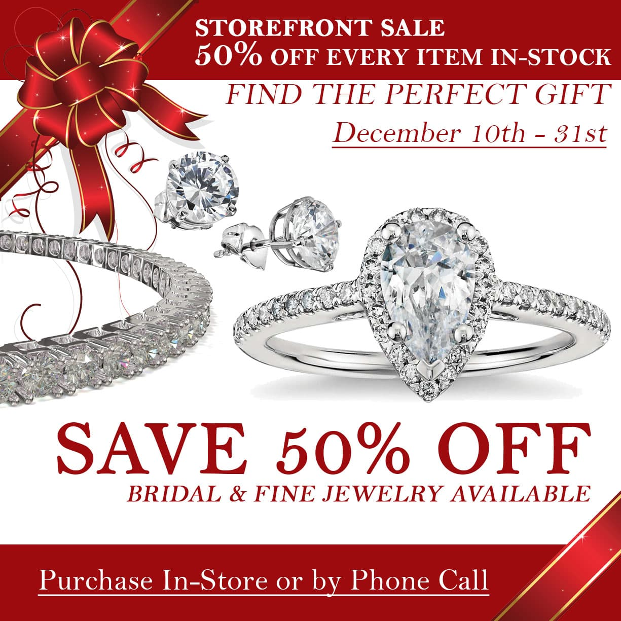 Storefront Sales Event - 50% Off Every Item In-Stock!